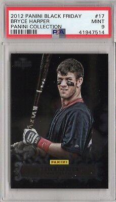 2012 Panini Black Friday Collection Bryce Harper ROOKIE RC #17 PSA 9