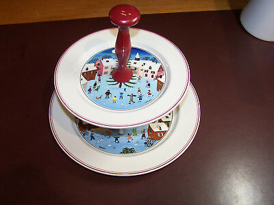 Villeroy & Boch NAIF Christmas Tiered Cookie Serving Plate