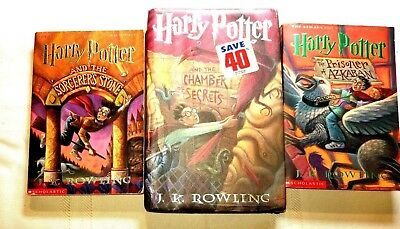 Lot of Childrens Harry Potter Books 1 - 3 Quidditch Fantastic Beasts