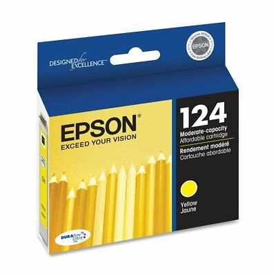 Epson Genuine T124420 124 Yellow Ink Cartridge Standard RETAIL BOX Exp 2020