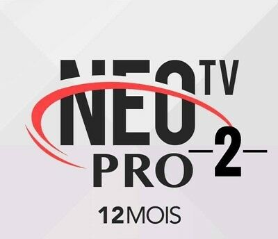 NEO TV PRO 2 - CODE 12 Mois EUROPE ARABE VOD  Android iOS Mag SMART TV