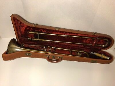 ROTH 1949 Tone Tempered Trombone Working Condition Case Silver Bell #53660 RARE