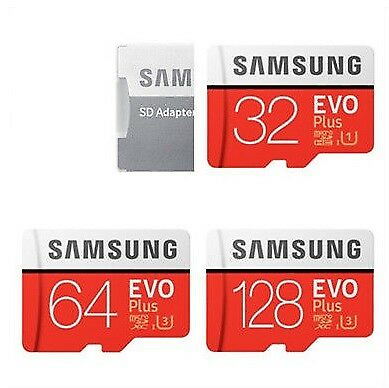 Samsung EVO Plus+ 32GB 64GB 128GB micro SD card MB MC32 MC64 128 MicroSD Adapter