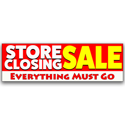 Store Closing Sale Vinyl Banner (Size Options)
