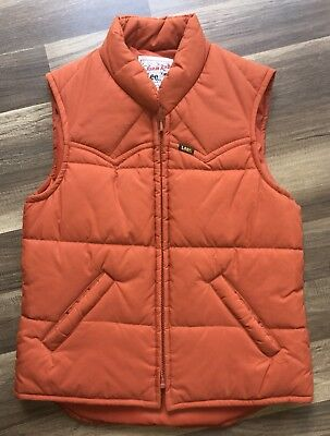 Vintage Lee Storm Rider Puffer Vest Made In USA Mens X-small Excellent