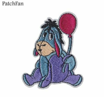 Donkey Cartoon Embroidered Iron On Applique Patch Badge TV Movie Game