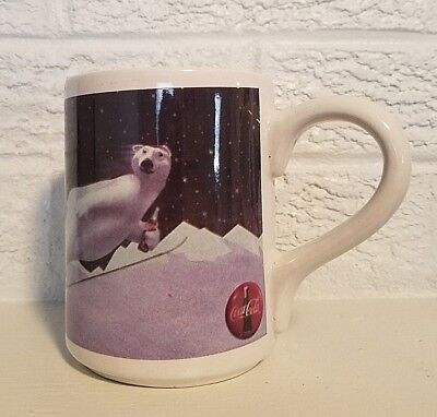 Coca - Cola - 1996 - Gibson - Polar Bear Skiing - Coffee Cup/Mug