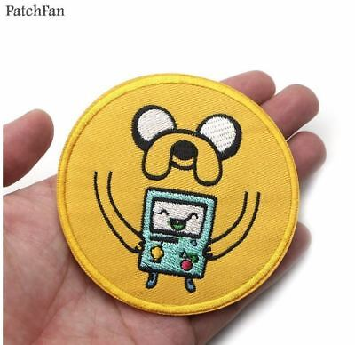 Adventure Time Jake & Beemo Embroidered Iron On Applique Patch Cartoon TV Movie