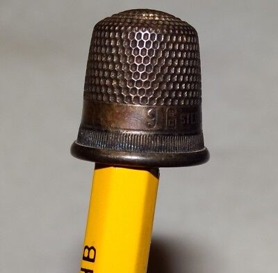 Antique Thimble Sewing Stern Brothers Sterling small  from collector estate