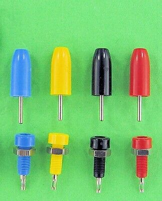 Pin Plugs & Jacks, Set of 5 Colors, Great Substitute for Bananas in Tight Spaces