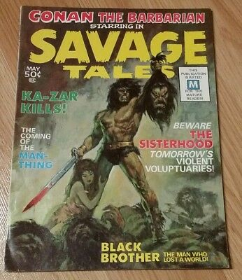 Savage Tales #1 Signed Barry Smith & John Romita Conan 1st app Man-Thing 1971