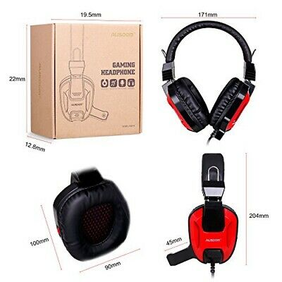 AUSDOM AGH15 Gaming Gamer Headset Headphones USB Surround Stereo for PC XBOX US