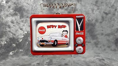 Collectible Coca-Cola Betty Boop Mini Lunch Box Replica Metal From The Year 2000