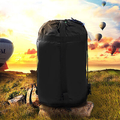 Outdoor Lightweight Nylon Compression Stuff Sack Bag Camping Sleeping Bag 2 Size