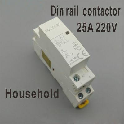 50/60HZ White 50/60HZ Fashion Hot AC Contactor Household 2NO 2NO 1NONC Din Rail