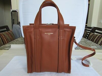 ef13b6d6408 Balenciaga Bazar Shopper 452458 Extra Small Tan Leather Tote Bag 07021105