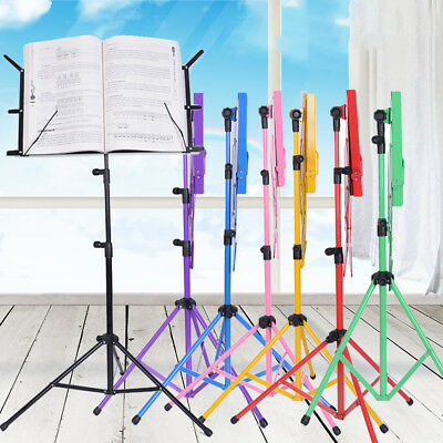 Adjustable Folding Orchestra Sheet Music Tripod Stand Holder with Carrying Bag