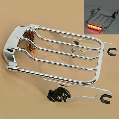 Two Up Air Wing Luggage Rack W/ Light For Harley Touring FLHT FLHX FLTR FLHX 09+