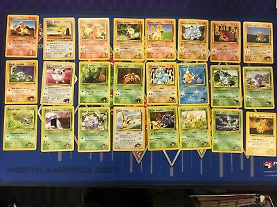 Near Complete Gym Challenge Pokemon Trainer Common Card Lot TCG WOTC 48 cards