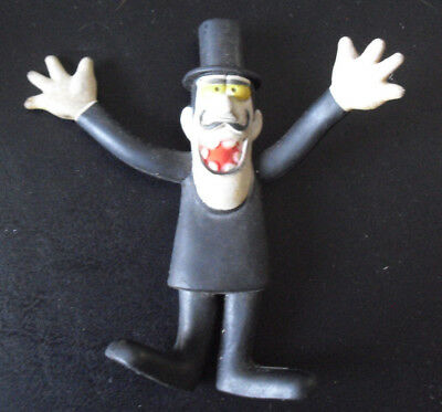 Vintage 1972 Wham-o Rocky and Bullwinkle Snidely Bendy Vinyl Figure