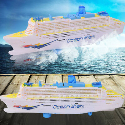 Electric Cruises Boat Baby Kids Children LED Flashing Light Music Bath Toy Gift