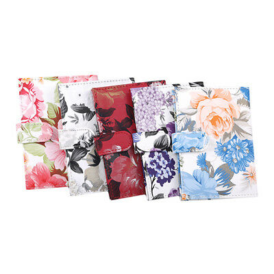 PU leather Vintage Peony Flower Travel Passport Holder Case Cover Wallet