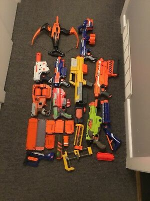 Huge Nerf Gun Lot + More Deploy N Strike Demolisher Stryfe Vigilon Thunderstorm