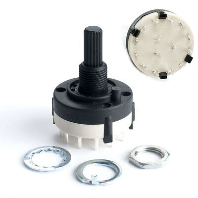 RS26 Great Hot Durable Fashion Rotary Switch PCB Mount 3 Pole 4 Way Panel Wirie