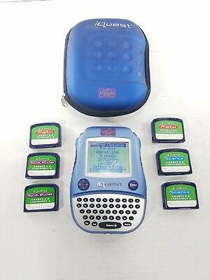 Quantum Leap iQuest Learning Pad 6 Games Lot Portable Educational Toy Leapfrog
