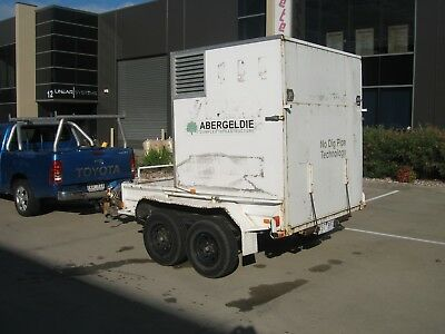 Specialised..tandem Trailer, Enclosed Box With Ramp, Front Bin & Toolbox