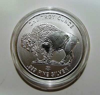 Buffalo-Indianhead 1 oz Silver Round with Radial Lines   Elemetal Mint