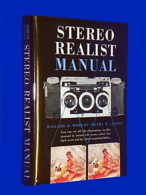 Vintage 3D Stereo Realist Manual Book Hardcover First Ed 1954 w/ DJ & Viewer