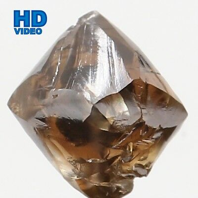 Natural Loose Diamond Rough Brown Color I1 Clarity 4.30 MM 0.64 Ct L6392