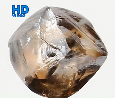 Natural Loose Diamond Rough Brown Color I1 Clarity 4.70 MM 0.72 Ct L6220