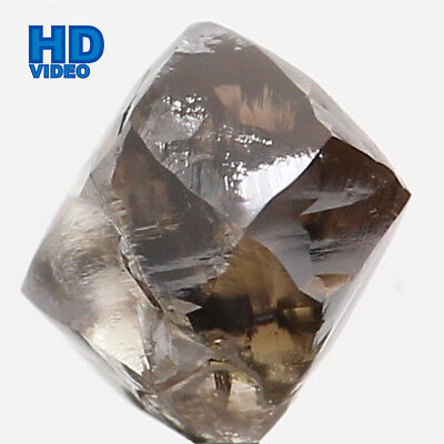 Natural Loose Diamond Rough Brown Color I1 Clarity 4.80 MM 0.70 Ct L6396