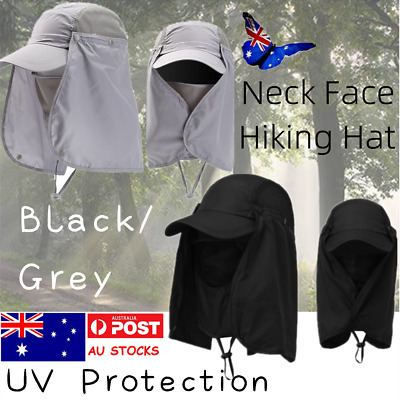 Outdoor Unisex UV Protection Sport Face Neck Flap Sun Cap Fishing Hiking Hat AU