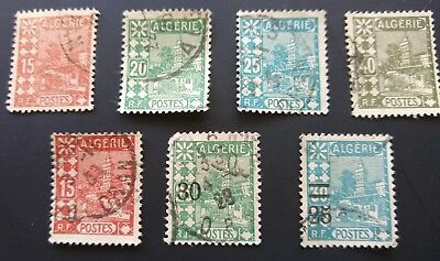 ALGERIA 1926-27 - .7 Fine Used STAMPS - Sidi Abderahman Mosque .2 with surcharge