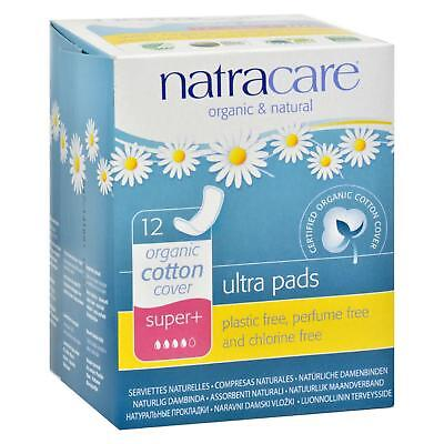 Natracare Natural Ultra Pads Super Plus w/organic cotton cover -  12 Pack
