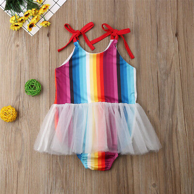 Toddler Baby Girl Floral Romper Bodysuit Jumpsuit Summer Clothes Outfits