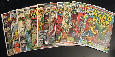 Wow! BIG LOT of *13* Early LUKE CAGE HERO/HIRE! #4,6-12,14,20,23,25-6 (FN/VF)