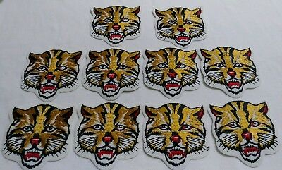 """10 Piece Lot Bengal Tiger Iron On Patch 3"""" x 3"""""""