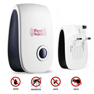 1/2/4/8 Pack Ultrasonic Pest Control Repeller Reject Rat Mouse Mice spider UK