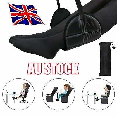Travel Foot Rest Footrest Leg Pillow Flight Memory Foam Cushion Hammock S4