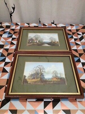 Lot Of Two Framed Countryside And Cottage Landscapes