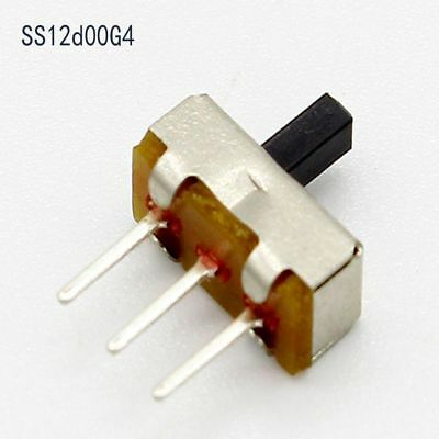 Hot Tool Miniature Slide PCB Panel Vertical SS12D00G4 1P2T 3 Pin Toggle Switch