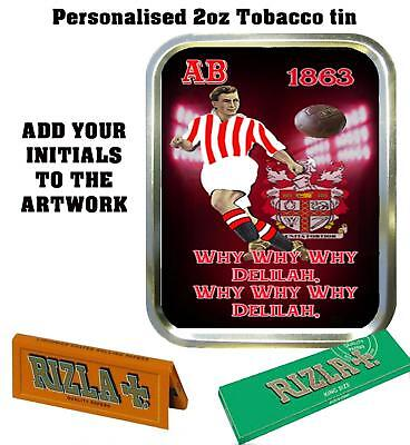 PERSONALISED STOKE CITY  RETRO  TOBACCO TIN 2oz GIFT ROLLING BACCY