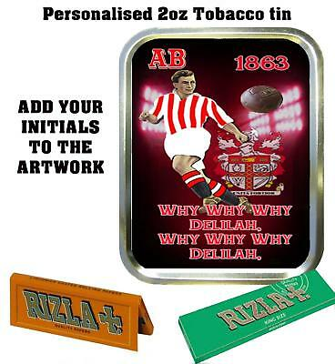 PERSONALISED SOUTHAMPTON FOOTBALL   RETRO  TOBACCO TIN 2oz GIFT ROLLING BACCY