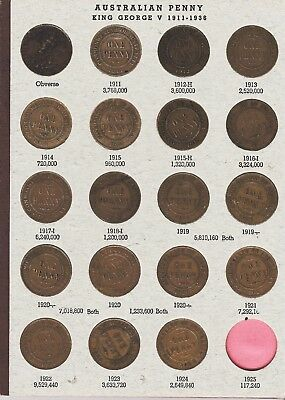 Penny Set In Album  No 1925 Or 1930 With 1946