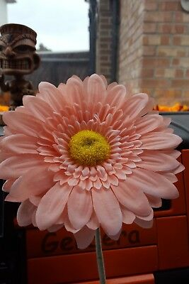 VW Car Vent Vase AND 15cm peach Gerbera Flower, Car Beetle T2 T25 T4 T5  Van