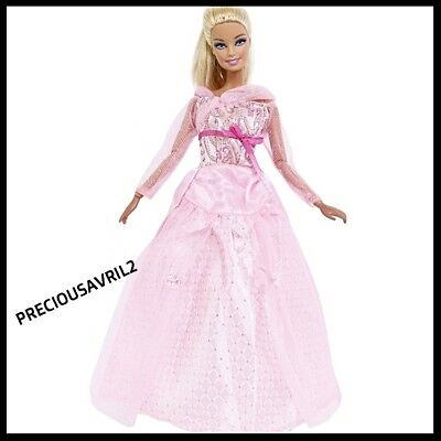 New Barbie doll clothes outfit princess wedding gown party dress pink long dress